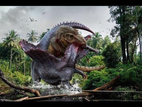тираннозавр побеждает спинозавра