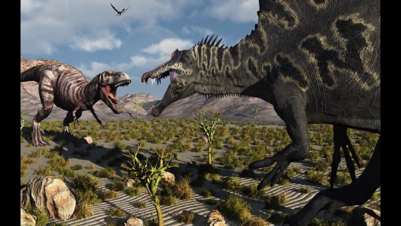 тираннозавр vs спинозавр