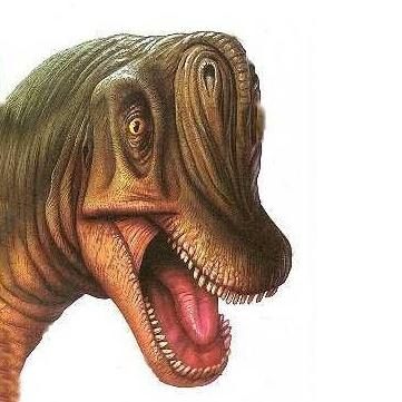 Расположение ноздрей брахиозавра