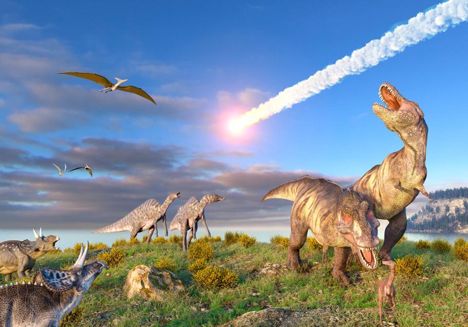 Падение астероида - ода из причин вымирания динозавров