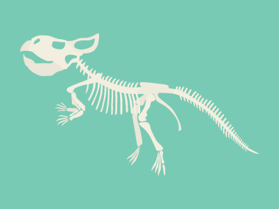 Скелет микроцератопса