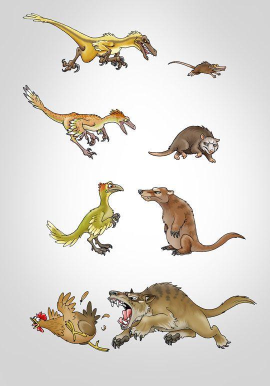 Эволюция млекопитающих и динозавров