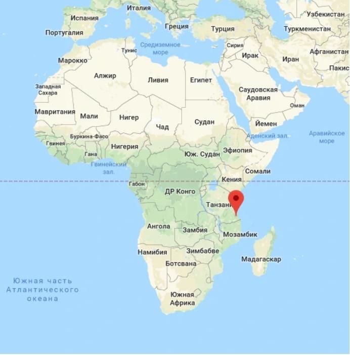 Место находки жираффатитана