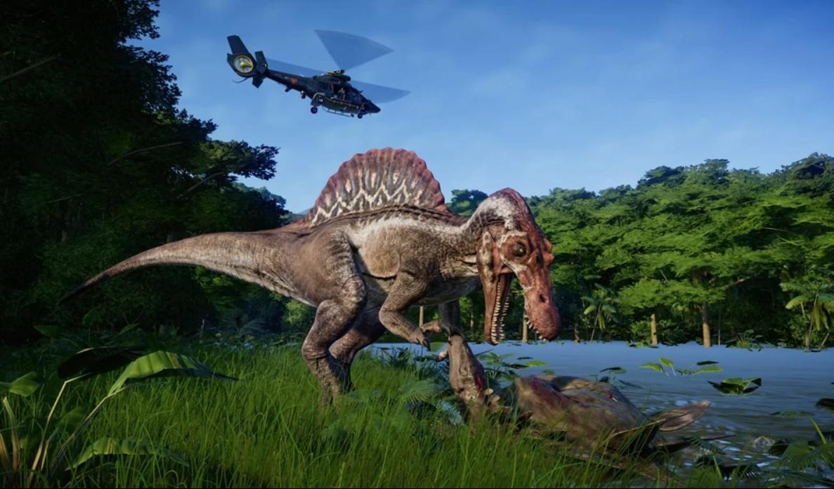 Спинозавр в игре jurassic world evolution