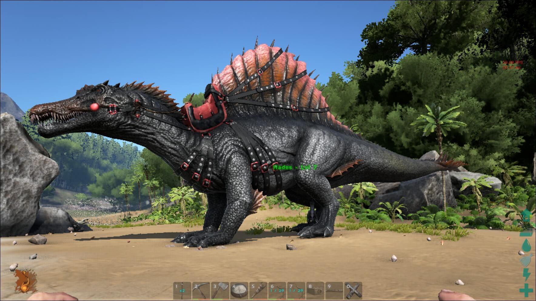 Оседланный спинозавр