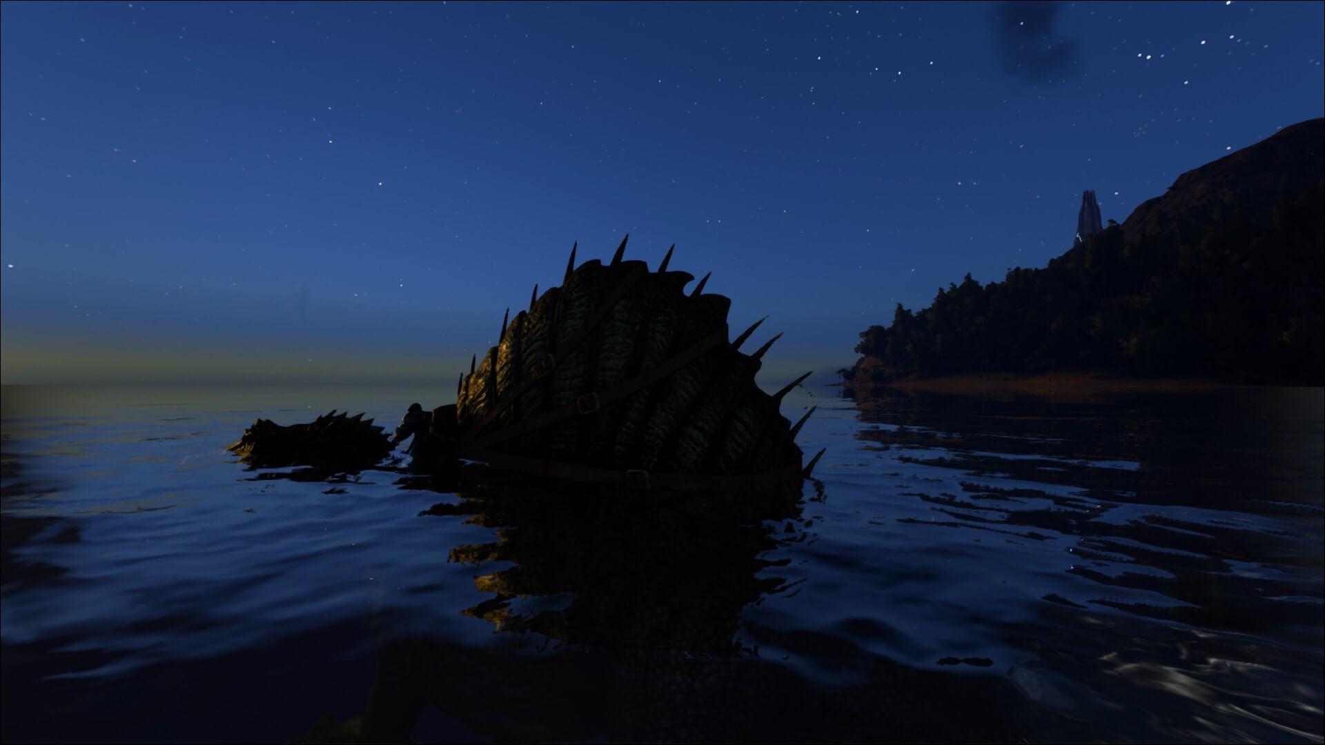 Спинозавр в водной среде