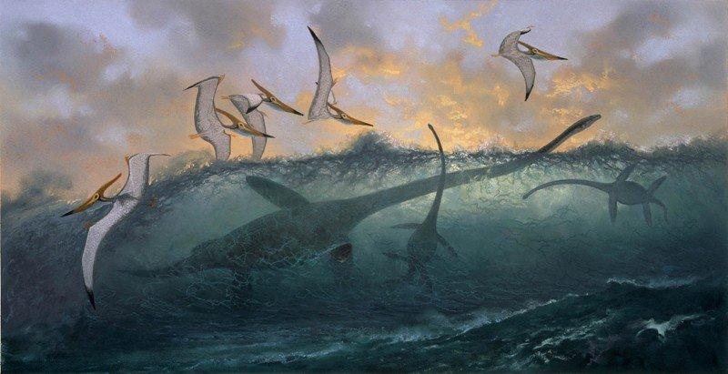 Птеранордоны парили над поверхностью океана