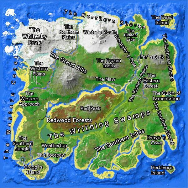 Карта острова АРК