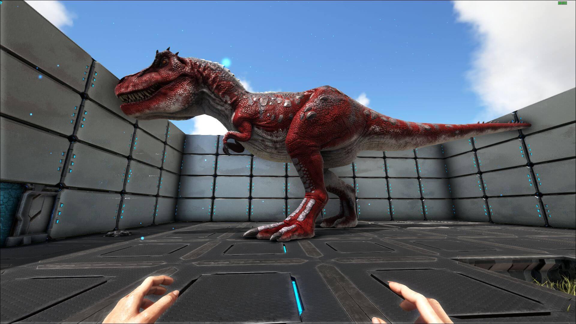 Тираннозавр Арк - есдинственный динозавр у которого все области могут быть раскрашены.