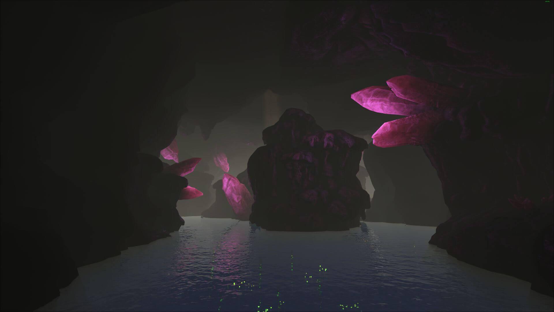 В пещерах Виверн можно собрать большое количество кристаллов