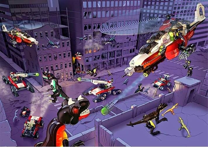 Все наборы лего dino_attack